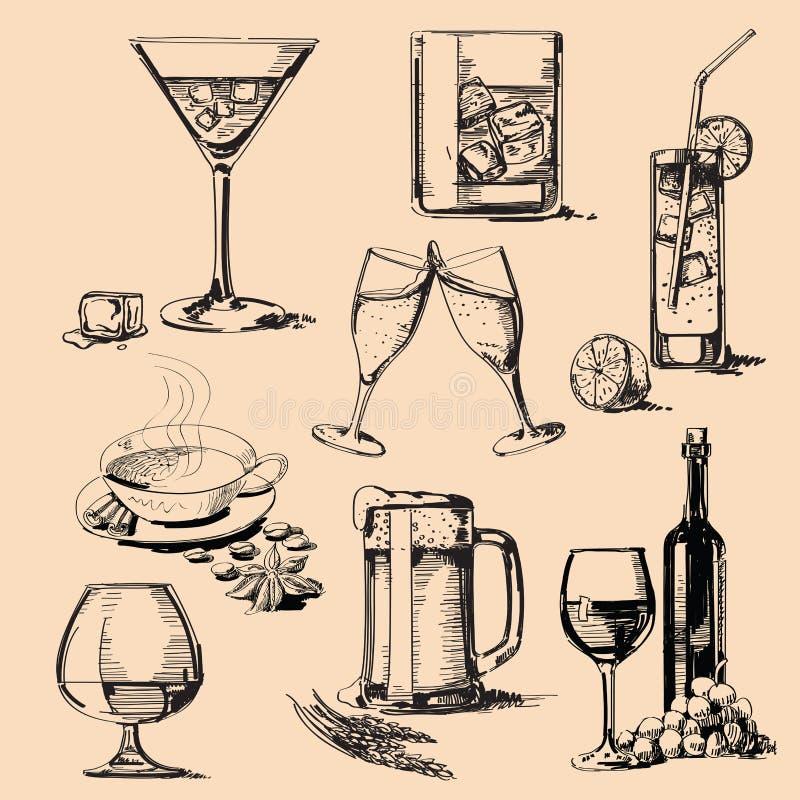 Pila della bevanda illustrazione di stock