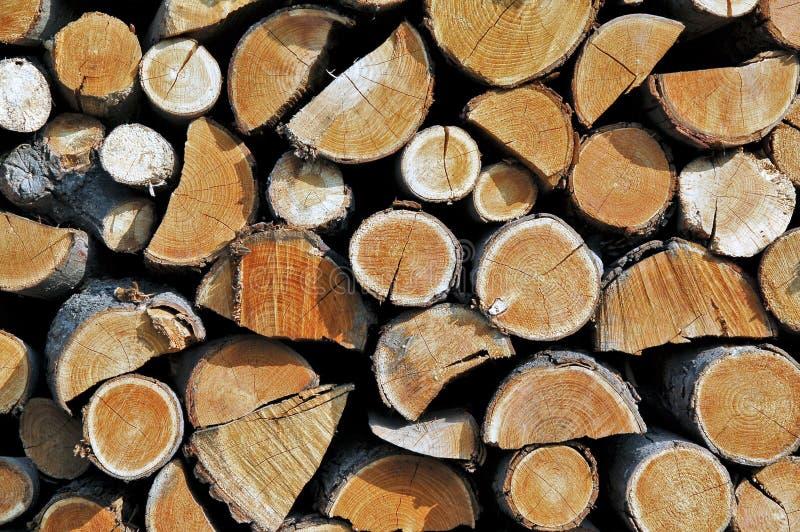 Pila della legna da ardere fotografia stock