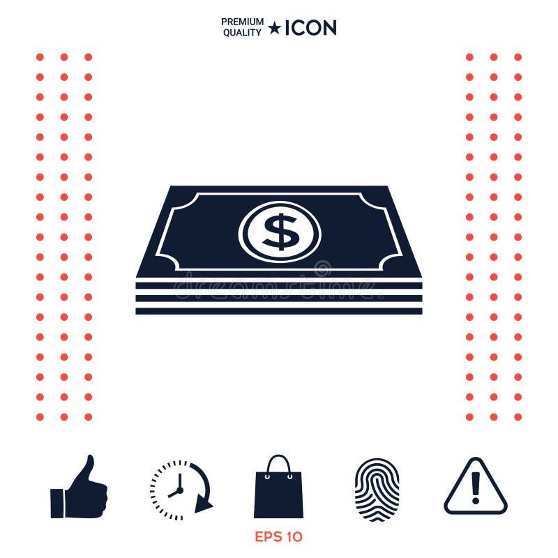Download Pila Delle Banconote Dei Soldi Con Il Simbolo Del Dollaro - Icona Illustrazione Vettoriale - Illustrazione di banking, investimento: 117976007