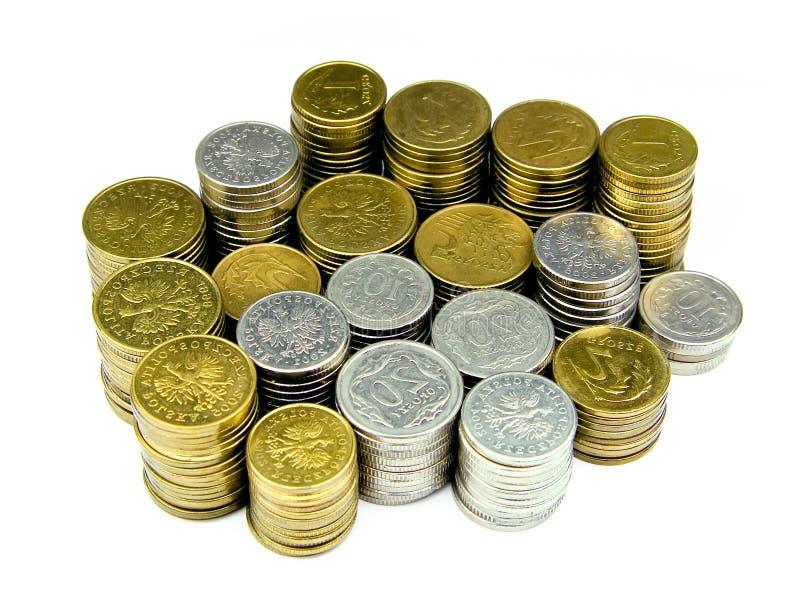 Pila delle monete fotografie stock libere da diritti