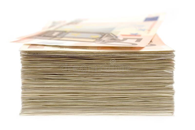 Pila di banconote fotografia stock
