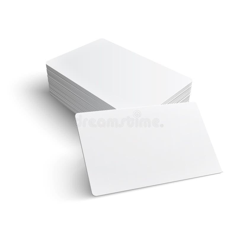 Pila di biglietto da visita in bianco. illustrazione di stock