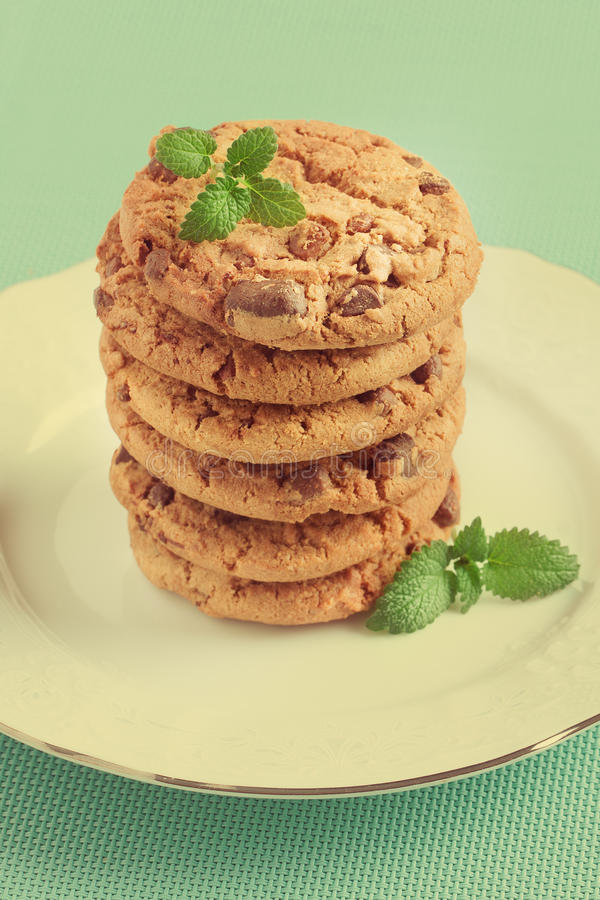 Pila di biscotti immagini stock libere da diritti