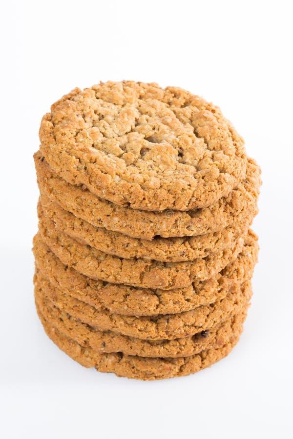 Pila di biscotti di farina d'avena immagini stock libere da diritti