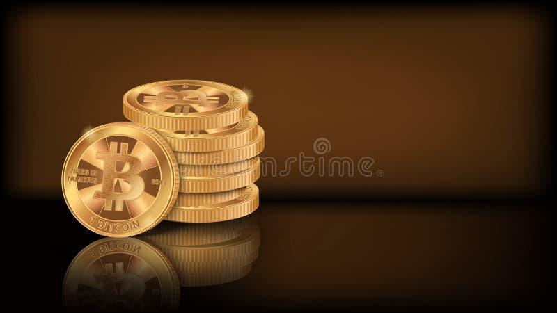 Pila 2 di Bitcoin illustrazione vettoriale