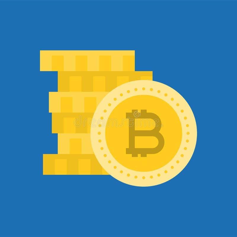 Pila di bitcoin illustrazione di stock