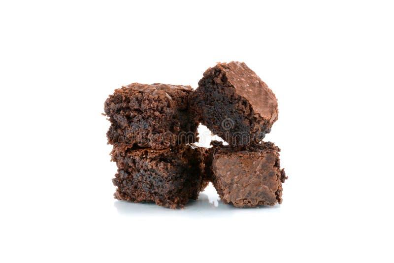 Pila di brownie al forno freschi fotografia stock libera da diritti