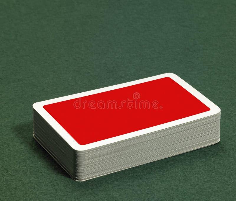 Pila di carte da gioco fotografia stock