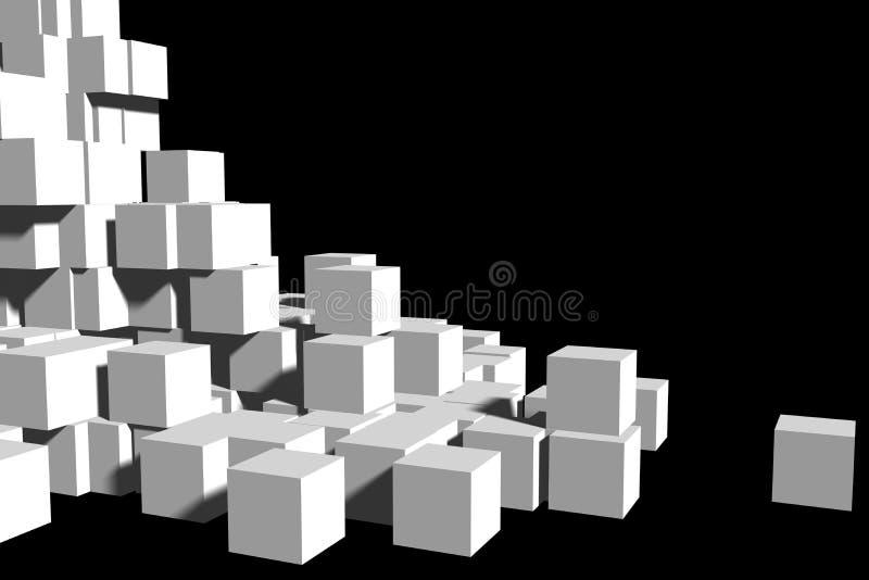 Pila di caselle in bianco illustrazione vettoriale