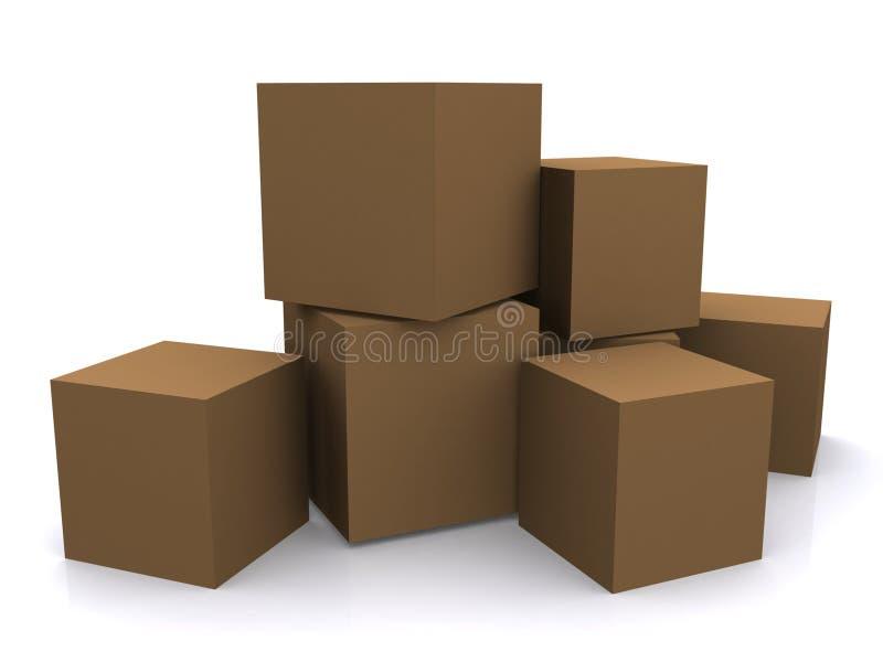 Pila di caselle o di cubi illustrazione di stock