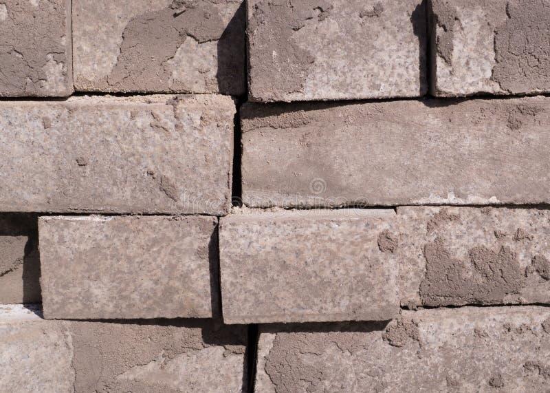 Pila di ciottoli della pavimentazione, mattoni Struttura, costruzione fotografia stock libera da diritti