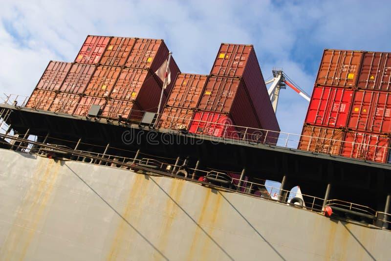 Pila di container del carico fotografie stock