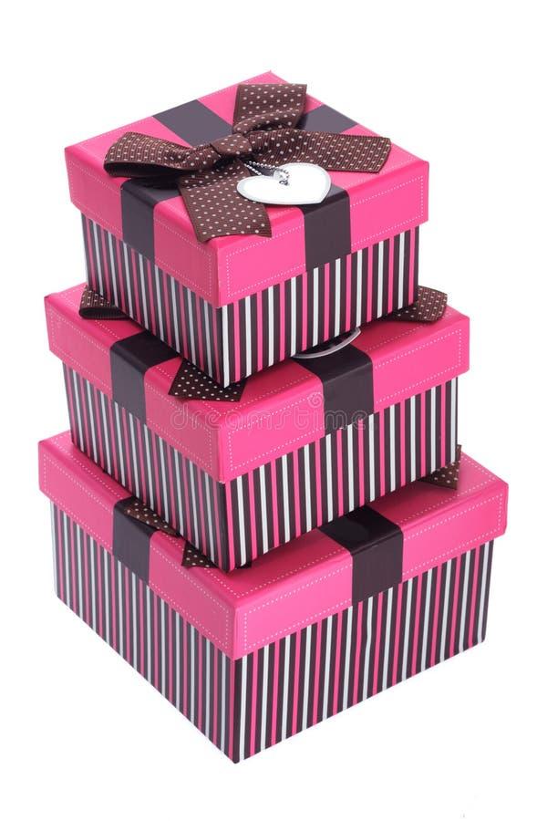 Pila di contenitori di regalo immagini stock libere da diritti