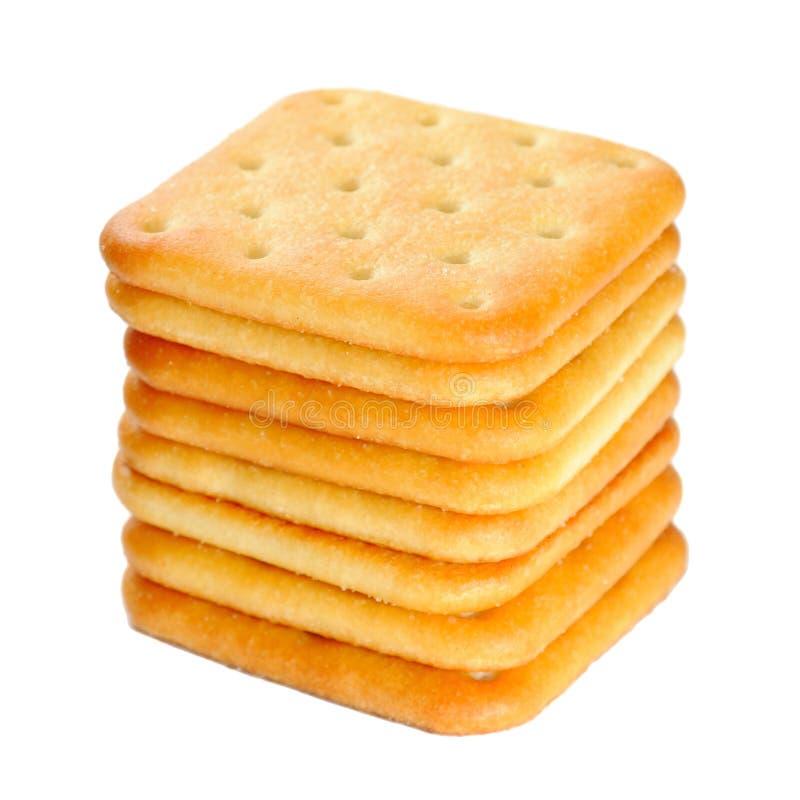 Pila di cracker fotografie stock libere da diritti