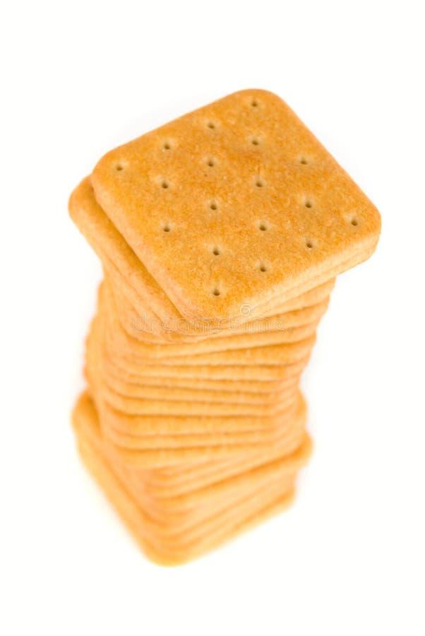 Pila di cracker fotografia stock