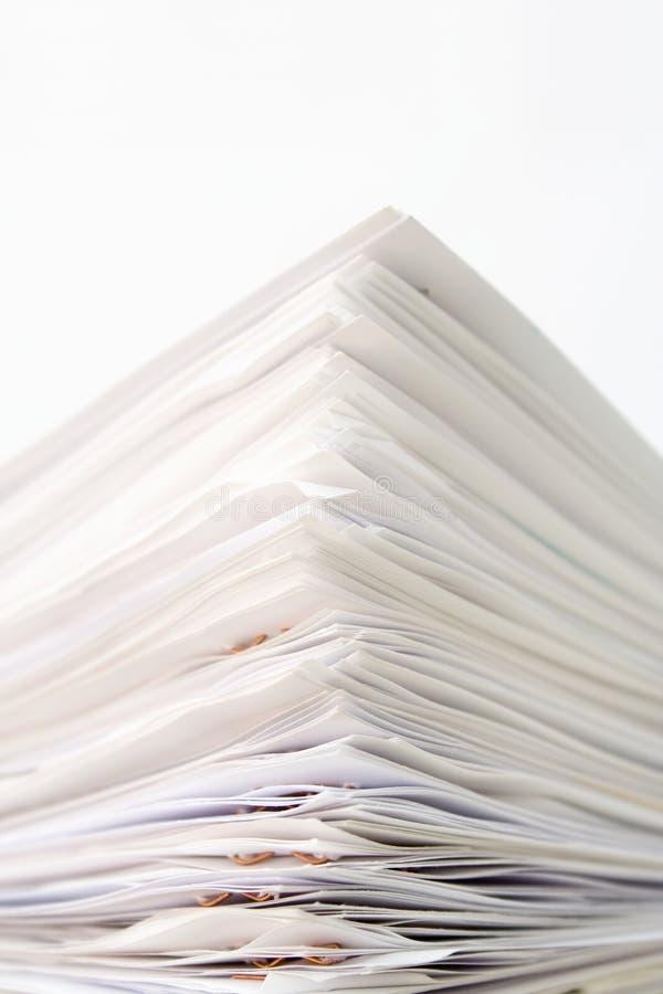 Pila di documenti fotografie stock libere da diritti