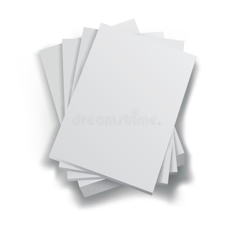 Pila di documenti royalty illustrazione gratis