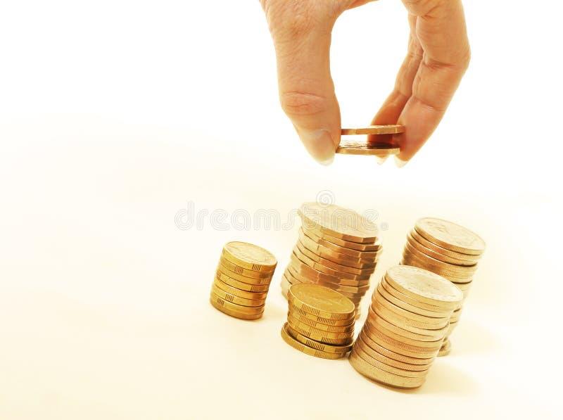 Pila di finanze fotografia stock