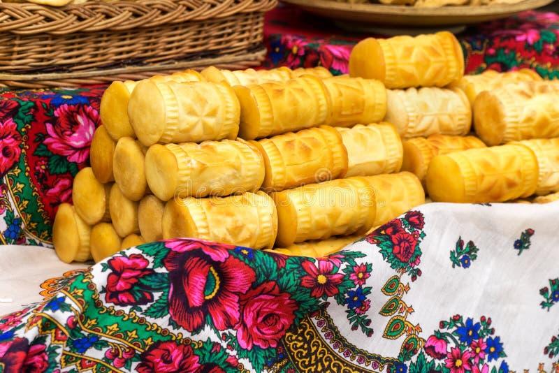 Pila di formaggio del oscypek fotografia stock libera da diritti
