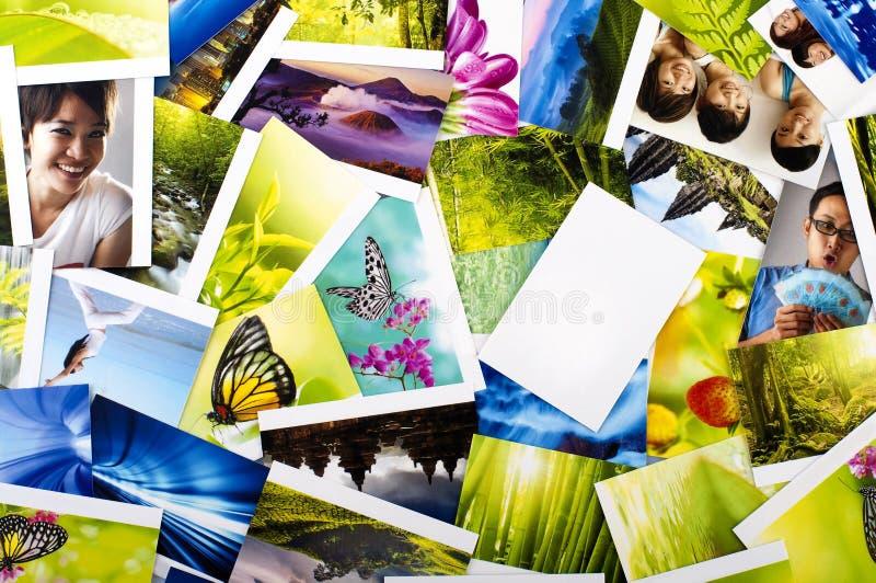 Pila di foto fotografia stock libera da diritti