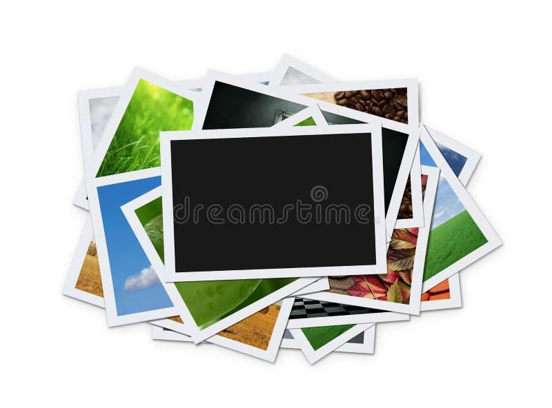 Pila di foto istanti fotografie stock