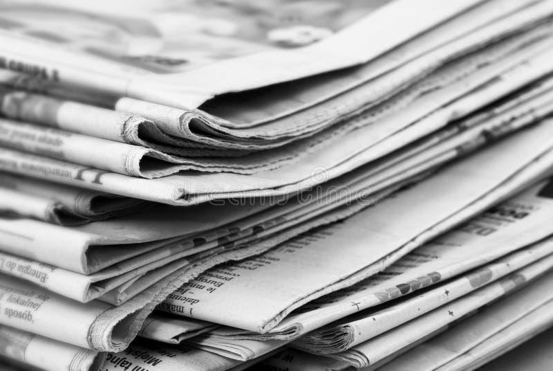 Pila di giornale fotografia stock libera da diritti