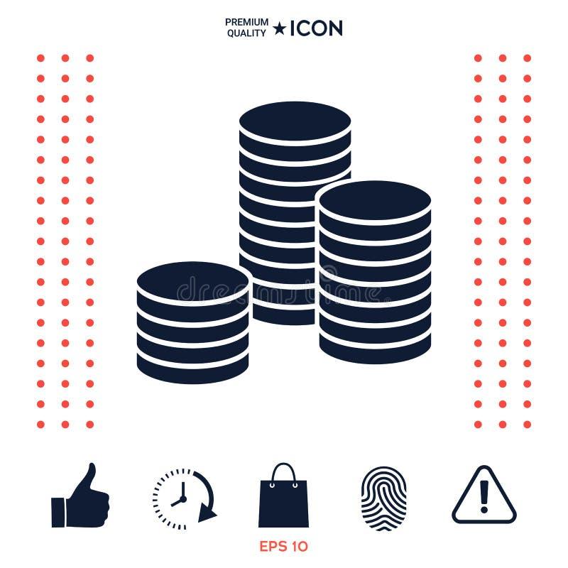 Download Pila di icona delle monete illustrazione vettoriale. Illustrazione di prezzo - 117976955