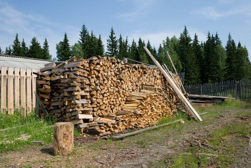 Pila di legna da ardere immagine stock