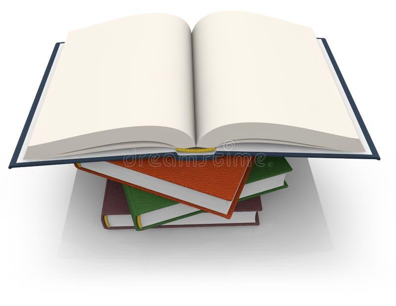 Pila di libri illustrazione di stock
