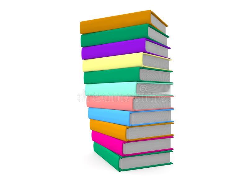 Pila di libri colorati illustrazione di stock