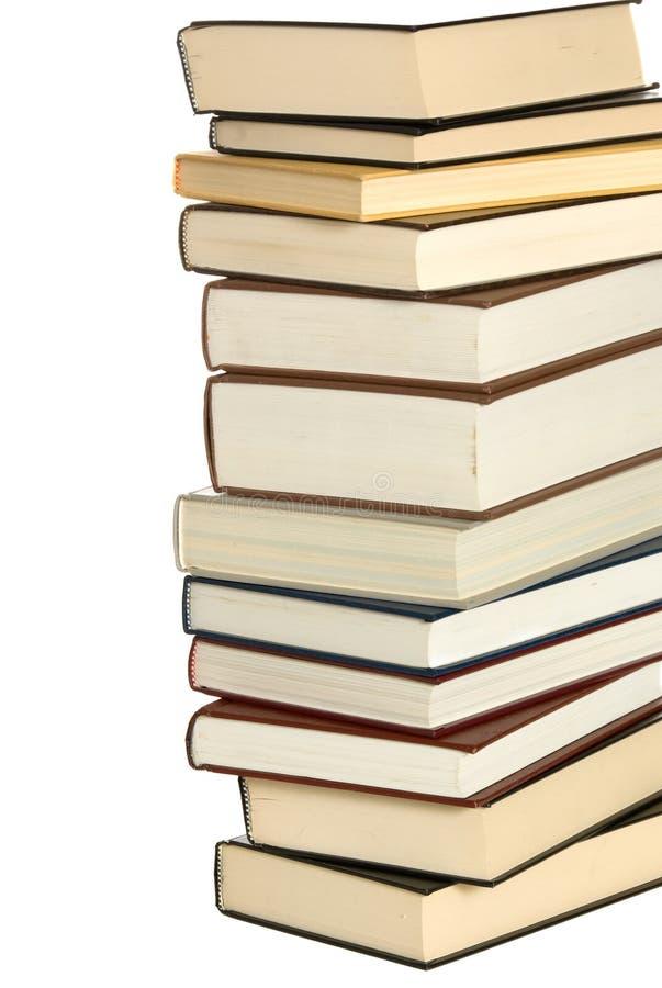 Pila di libri di banco fotografia stock libera da diritti