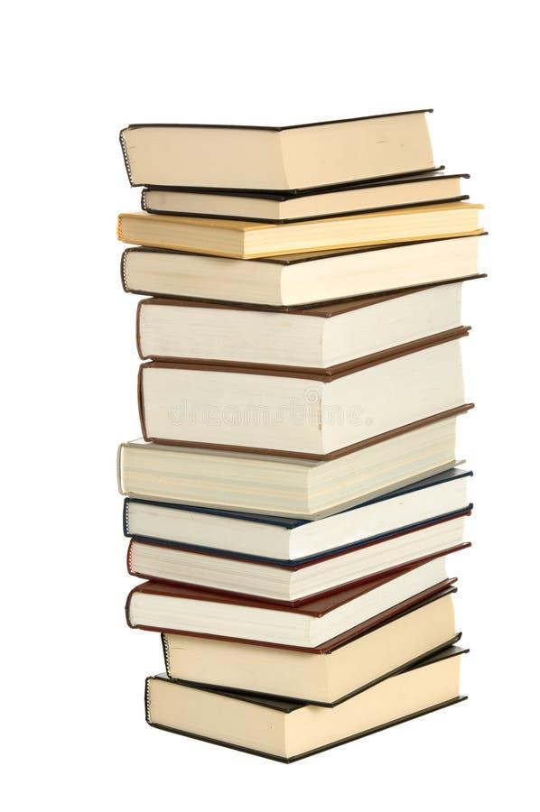 Pila di libri di banco fotografia stock