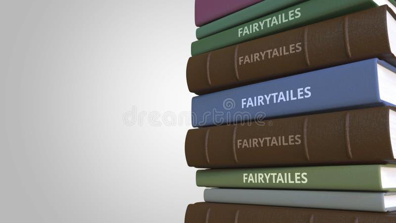 Pila di libri di favola, rappresentazione 3D royalty illustrazione gratis