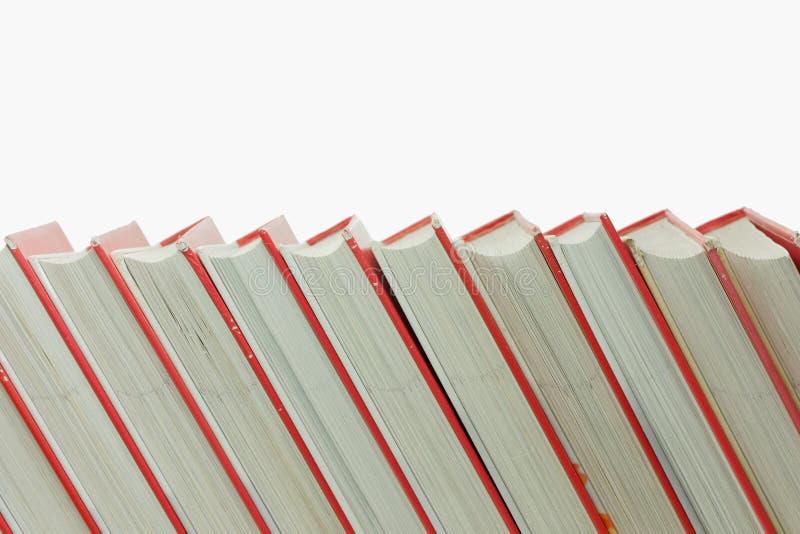 Pila di libri isolati immagine stock libera da diritti