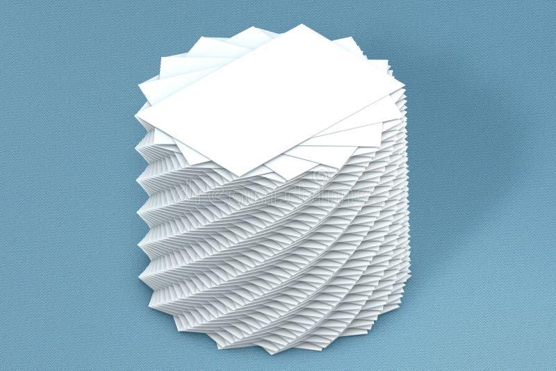Download Pila Di Molte Carte Di Modello Di Carta Alla Presentazione Fotografia Stock - Immagine di saluto, pubblicità: 56877050