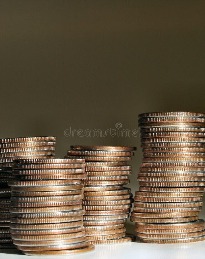 Download Pila di monete 2 immagine stock. Immagine di closeup, soldi - 21059