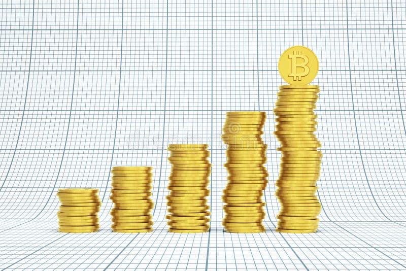 Pila di monete del bitcoin royalty illustrazione gratis