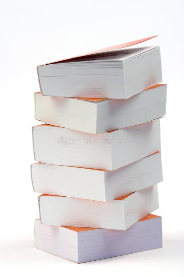 Pila di piccoli libri fotografia stock libera da diritti