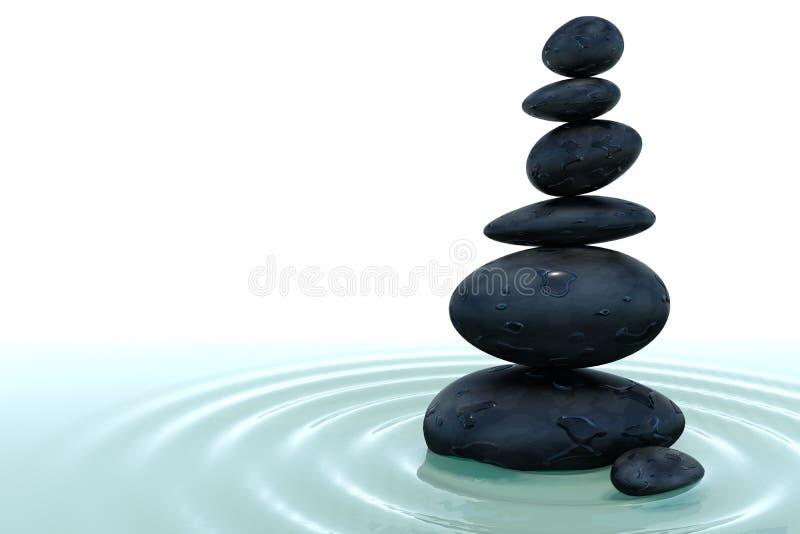 Pila di pietra in acqua royalty illustrazione gratis