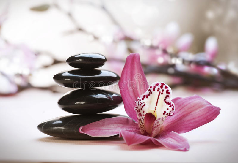 Pila di pietre di zen immagini stock