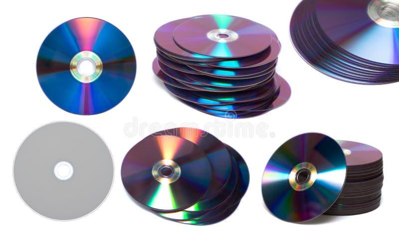 Pila di ROM di DVD o del Cd fotografie stock
