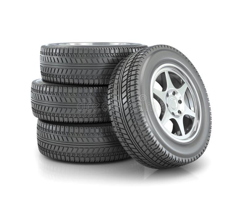 Pila di ruote di automobile i royalty illustrazione gratis