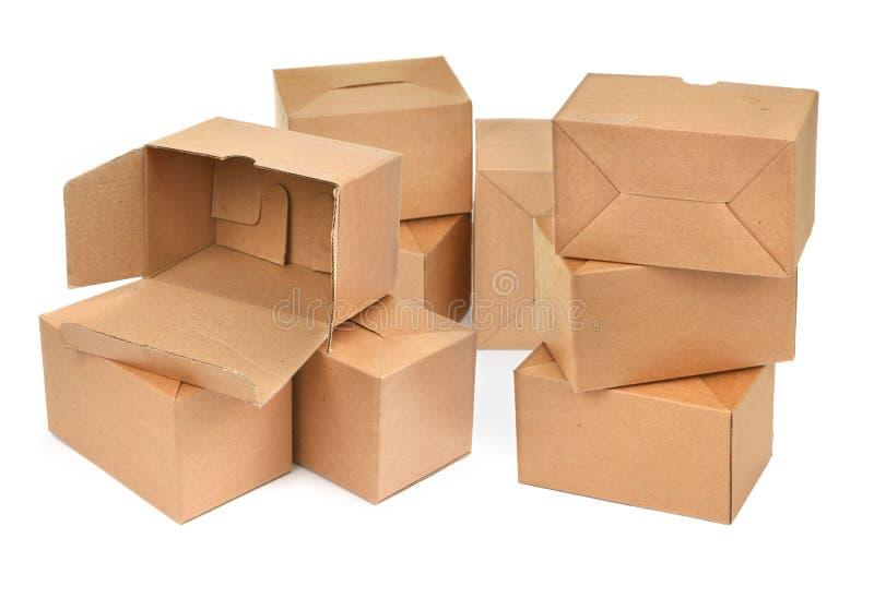 Pila di scatole di cartone fotografia stock