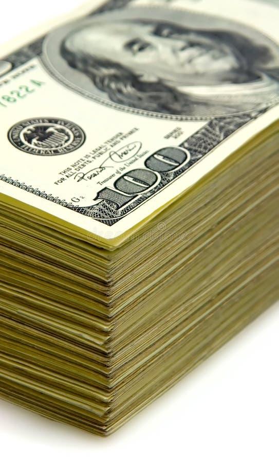 Pila di soldi fotografie stock