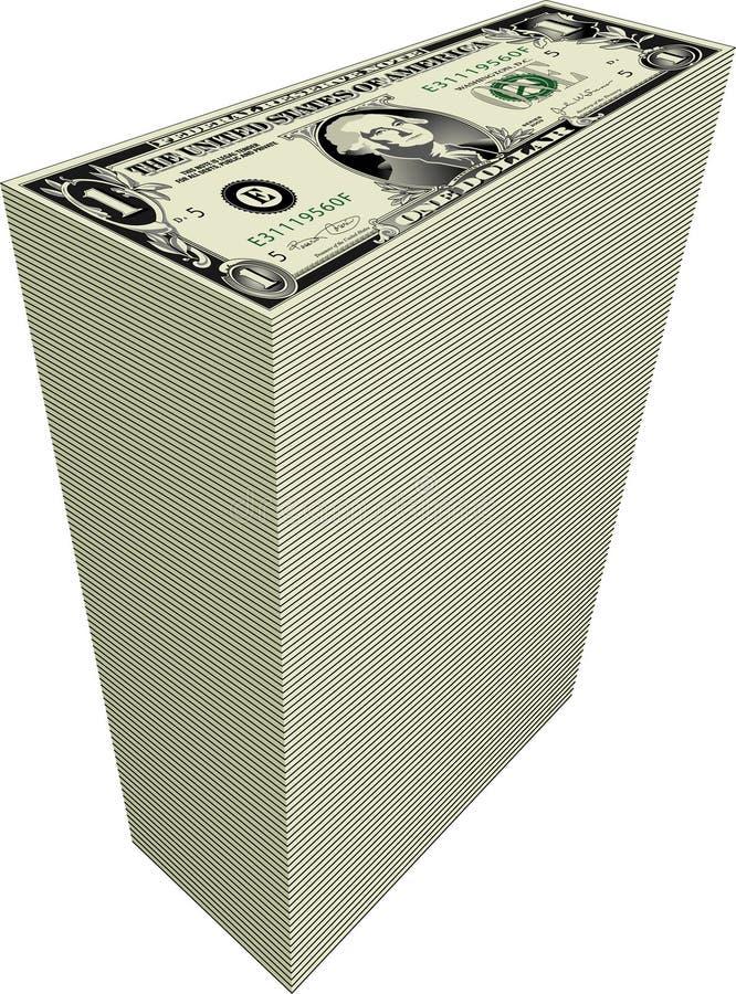 Download Pila di soldi illustrazione vettoriale. Illustrazione di dichiara - 7315322