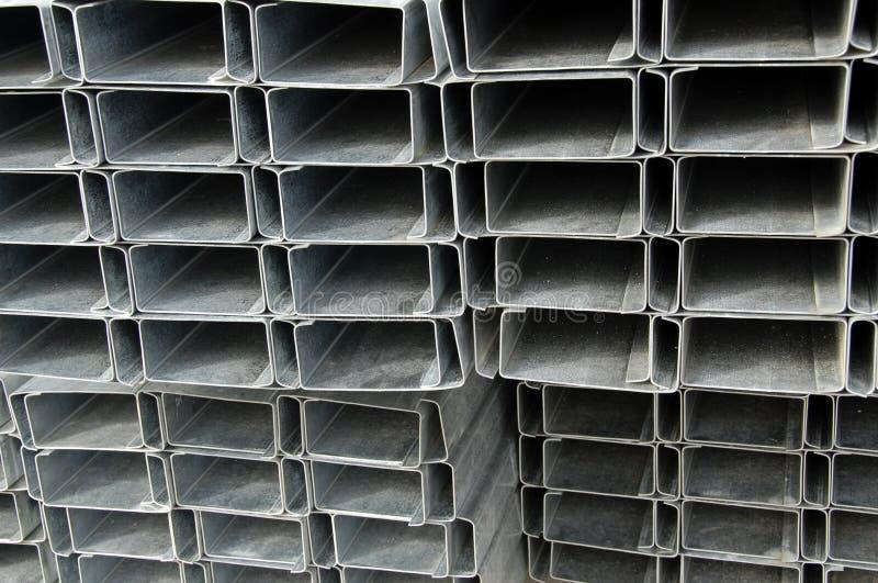 Pila di telaio d'acciaio fotografia stock