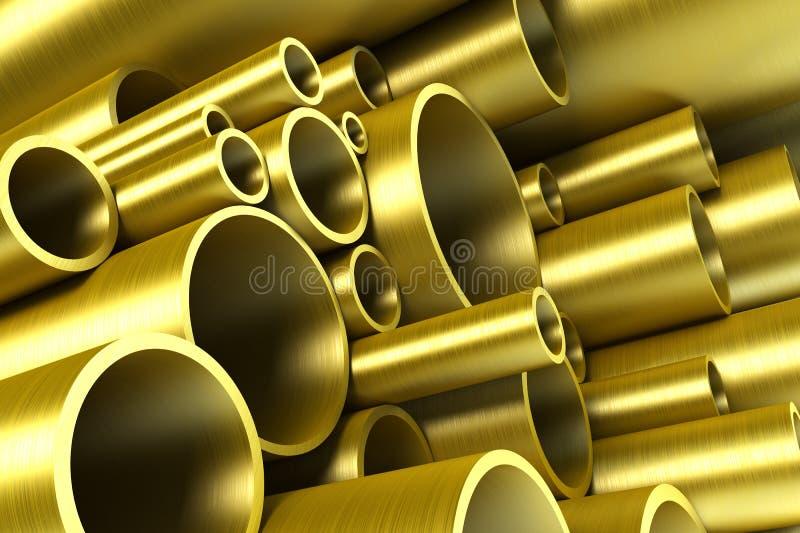 Pila di tubazione d'acciaio illustrazione di stock