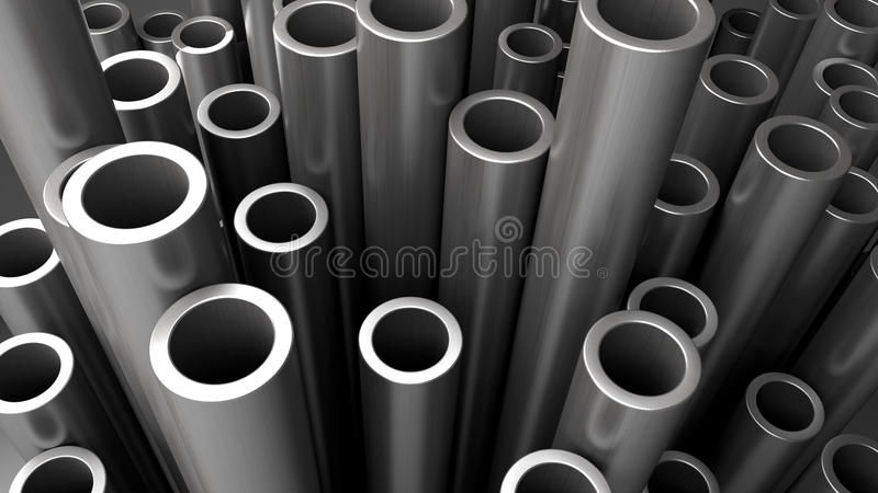 Pila di tubi d'acciaio illustrazione vettoriale