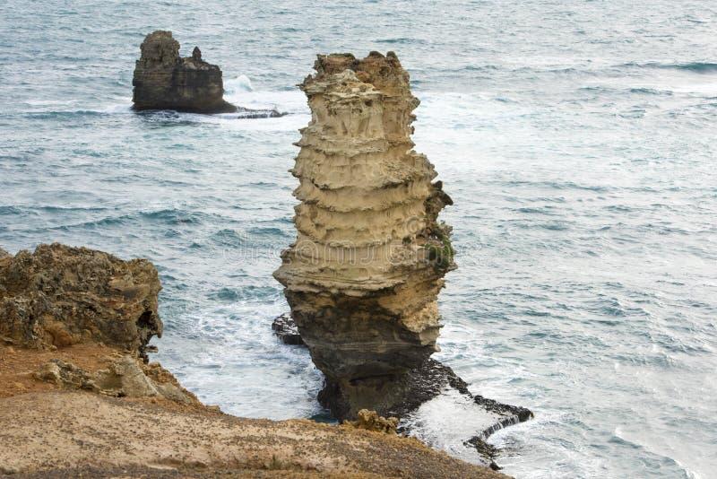 Pila en el gran camino del océano del mar, Australia fotografía de archivo