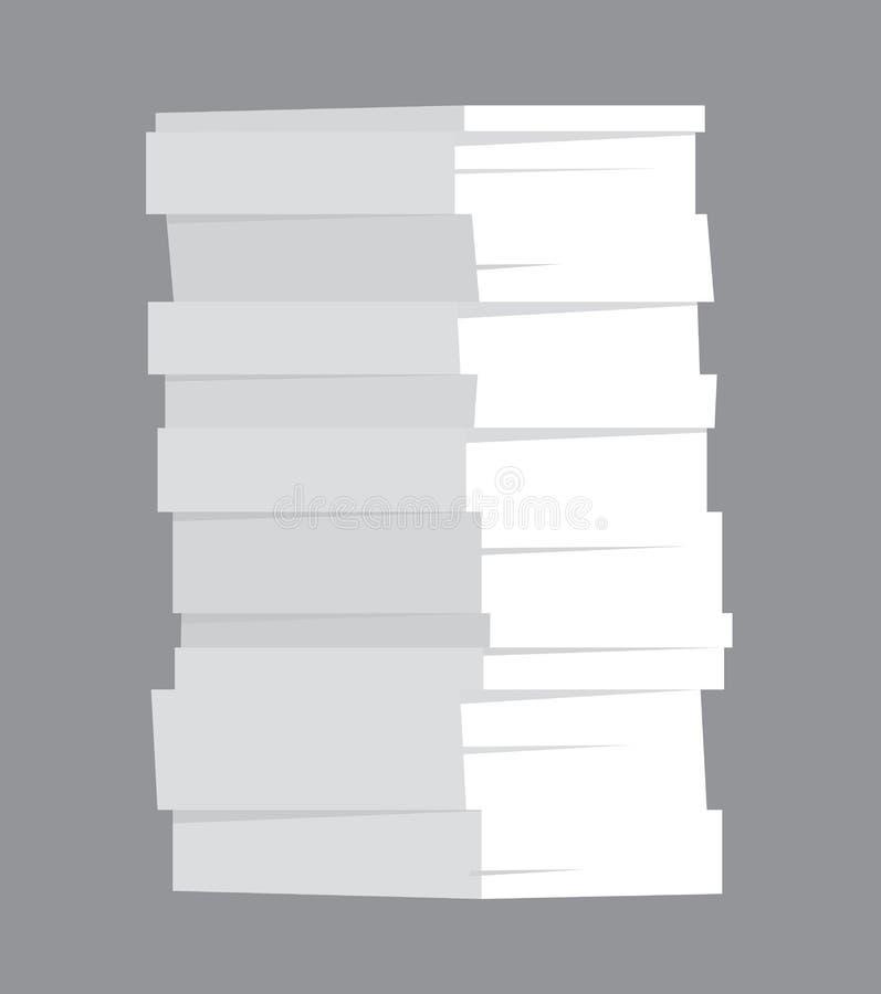 Pila enorme di carta illustrazione di stock